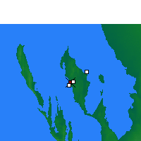 Nearby Forecast Locations - Little Lagoon - Χάρτης