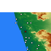 Nearby Forecast Locations - Thrissur - Χάρτης
