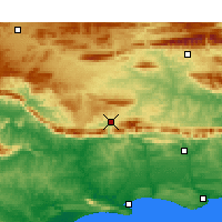 Nearby Forecast Locations - Barrydale - Χάρτης