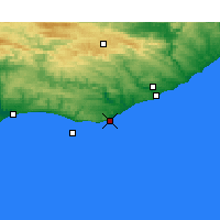 Nearby Forecast Locations - Cannon Rocks - Χάρτης