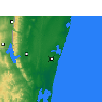 Nearby Forecast Locations - Sodwana Bay - Χάρτης