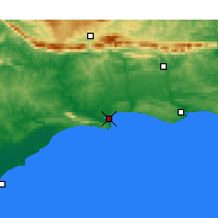 Nearby Forecast Locations - Witsand - Χάρτης