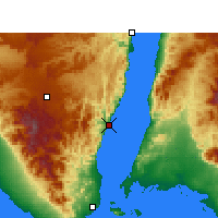 Nearby Forecast Locations - Dahab - Χάρτης