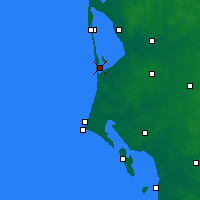 Nearby Forecast Locations - Bork Havn - Χάρτης