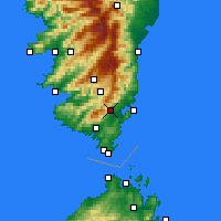 Nearby Forecast Locations - Porto-Vecchio - Χάρτης