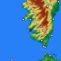 Nearby Forecast Locations - Serra-di-Ferro - Χάρτης