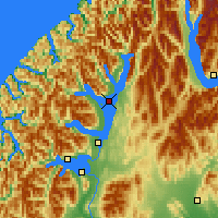 Nearby Forecast Locations - Lake Te Anau - Χάρτης