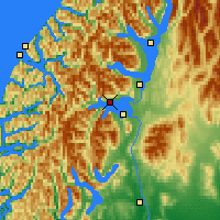Nearby Forecast Locations - Lake Manapouri - Χάρτης
