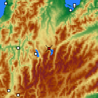 Nearby Forecast Locations - Lake Rotoiti - Χάρτης