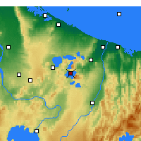 Nearby Forecast Locations - Lake Tarawera - Χάρτης