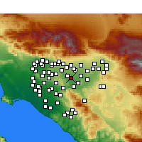 Nearby Forecast Locations - Chino - Χάρτης