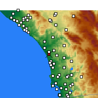 Nearby Forecast Locations - Carlsbad - Χάρτης