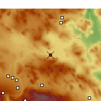 Nearby Forecast Locations - Barstow - Χάρτης