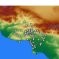 Nearby Forecast Locations - Van Nuys - Χάρτης