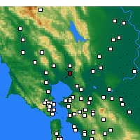 Nearby Forecast Locations - Napa - Χάρτης