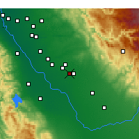 Nearby Forecast Locations - Merced - Χάρτης