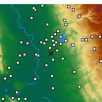 Nearby Forecast Locations - Rancho Cordova - Χάρτης