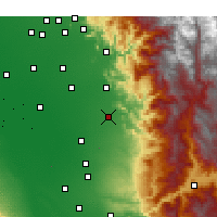 Nearby Forecast Locations - Porterville - Χάρτης