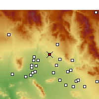 Nearby Forecast Locations - Phoenix Deer V. - Χάρτης