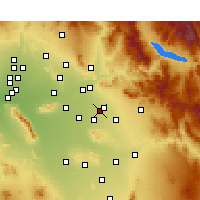 Nearby Forecast Locations - Mesa AFB - Χάρτης