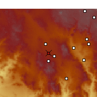 Nearby Forecast Locations - Prescott - Χάρτης