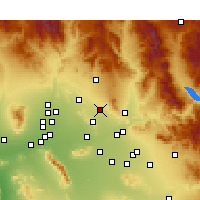 Nearby Forecast Locations - Scottsdale - Χάρτης
