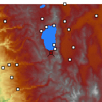 Nearby Forecast Locations - South Lake Tahoe - Χάρτης