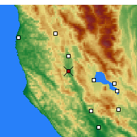 Nearby Forecast Locations - Ukiah - Χάρτης