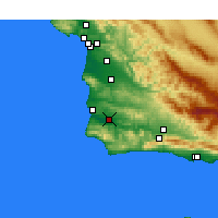 Nearby Forecast Locations - Lompoc Airport - Χάρτης