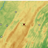 Nearby Forecast Locations - Johnstown - Χάρτης