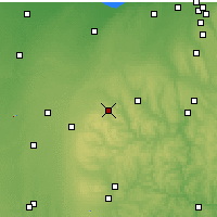 Nearby Forecast Locations - Mansfield - Χάρτης