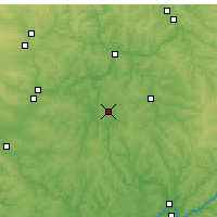 Nearby Forecast Locations - Zanesville - Χάρτης