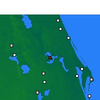 Nearby Forecast Locations - Orlando AP/S - Χάρτης