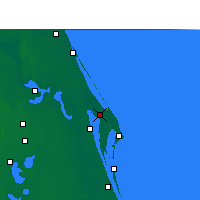 Nearby Forecast Locations - C. Canaveral - Χάρτης