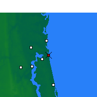 Nearby Forecast Locations - Naval Station Mayport - Χάρτης