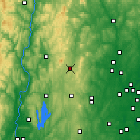 Nearby Forecast Locations - Jaffrey - Χάρτης