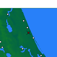 Nearby Forecast Locations - Daytona Beach - Χάρτης