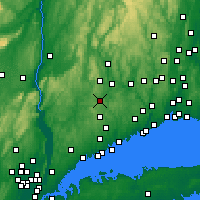 Nearby Forecast Locations - Danbury - Χάρτης