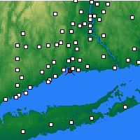 Nearby Forecast Locations - New Haven - Χάρτης