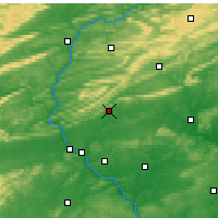 Nearby Forecast Locations - Fort Indiantown Gap - Χάρτης