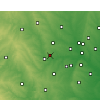 Nearby Forecast Locations - Ft Worth/Me. - Χάρτης
