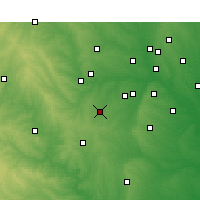 Nearby Forecast Locations - Burleson - Χάρτης