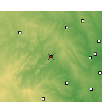Nearby Forecast Locations - Mineral Wells - Χάρτης