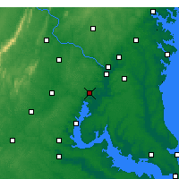 Nearby Forecast Locations - Fort Belvoir - Χάρτης