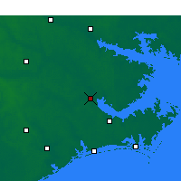 Nearby Forecast Locations - New Bern - Χάρτης
