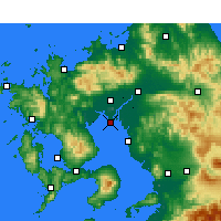 Nearby Forecast Locations - Saga Airport - Χάρτης