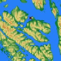 Nearby Forecast Locations - Hoonah - Χάρτης