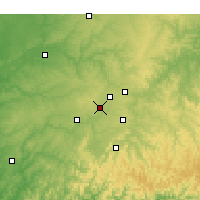 Nearby Forecast Locations - Cave Springs - Χάρτης