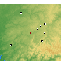 Nearby Forecast Locations - Siloam Springs - Χάρτης