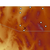 Nearby Forecast Locations - Nogales - Χάρτης